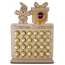 6mm Santa & Present Chocolate Orange and Ferrero Rocher Holder Advent Calendar