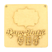 Laser Cut 3D 'Days Until Eid' Countdown Plaque