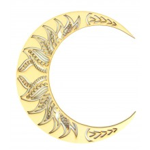 Laser Cut Decorative Arabic Moon - Design 1