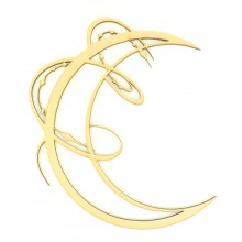 Laser Cut Decorative Arabic Moon - Design 2