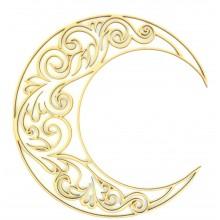 Laser Cut Decorative Arabic Moon - Design 3
