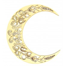 Laser Cut Decorative Arabic Moon - Design 4