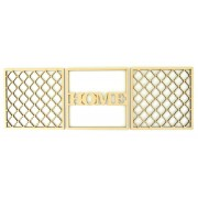 Laser Cut 6mm MDF Set of 3 Framed Panels - 1 Home and 2 Decorative Patterns