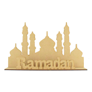 Laser Cut 'Ramadan' Temple Sign on stand