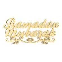 Laser Cut 'Ramadan Mubarak' Sign with Swirl Underline