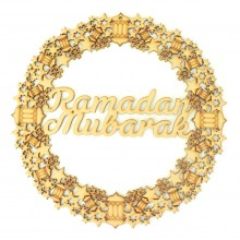 Laser Cut 'Ramadan Mubarak' Wreath