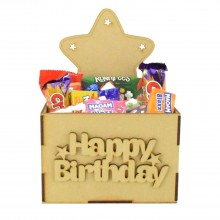 Laser Cut Birthday Hamper Treat Boxes - Star