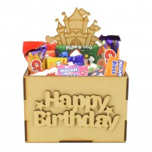 Laser Cut Birthday Hamper Treat Boxes - Princess Castle