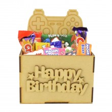 Laser Cut Birthday Hamper Treat Boxes - Playstation Controller