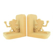 18mm Freestanding MDF Fairy Pair of Bookends