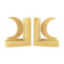 18mm Freestanding MDF Moon Crescent Shape Pair of Bookends