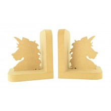 18mm Freestanding MDF Unicorn Head Shape Pair of Bookends