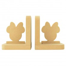 18mm Freestanding MDF 'Girl Mouse Head' Shape Pair of Bookends