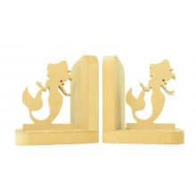 18mm Freestanding MDF 'Mermaid' Shape Pair of Bookends