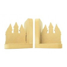 18mm Freestanding MDF 'Princess Castle' Shape Pair of Bookends