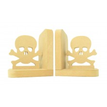 18mm Freestanding MDF 'Skull' Shape Pair of Bookends
