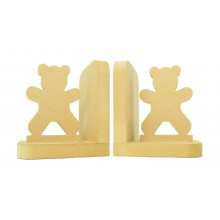 18mm Freestanding MDF 'Standing Teddy' Shape Pair of Bookends