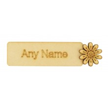 Laser cut Personalised Bookmark with 3D Shape