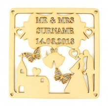 Laser Cut Personalised Box Frame Wedding Plaque