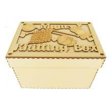 Laser Cut 'Mums Knitting Box' Storage Box - Large Box Frame Top
