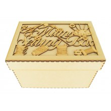 Laser Cut 'Mums Sewing Box' Storage Box - Large Box Frame Top