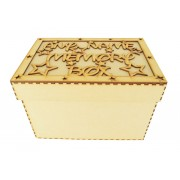 Laser Cut Personalised 'Memory Box' with Stars - Large Box Frame Top