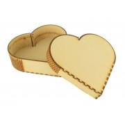 Laser Cut Valentines Love Heart Gift Box, Memory Box, Token Box