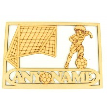 Laser Cut Personalised Boys Football Keepsake Box - Large Box Frame Top