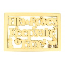 Laser Cut Personalised Keepsake Box - Large Box Frame Top