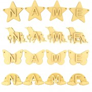 Laser Cut Personalised Character Range Bunting Letters - (AR)