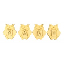 Laser Cut Personalised Owl Bunting with Letters - (AR)