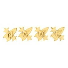 Laser Cut Personalised Rocket Bunting with Letters - (AR)