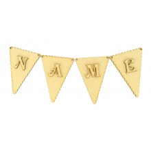 Laser Cut Personalised Scalloped Edge Traditional Bunting Flags with Letters - (VIC)