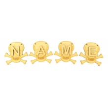 Laser Cut Personalised Skull Bunting with Letters - (AR)