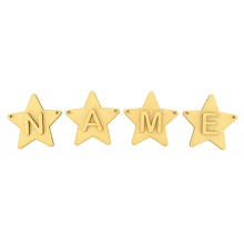 Laser Cut Personalised Star Bunting with Letters - (AR)
