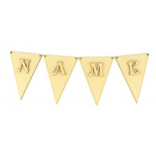 Laser Cut Personalised Traditional Bunting Flags with Laser cut Letters - (VIC)