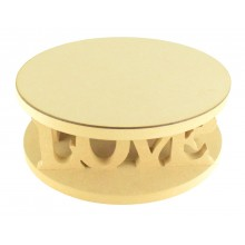 18mm MDF Round Cake Stand - Love Design - Variety of Sizes Available