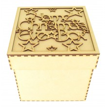 Laser Cut Personalised 'Christmas Eve Box' with Decorative Font and Stars - To fit Box Size 1