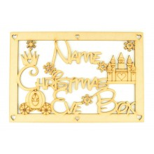 Laser Cut Personalised Princess 'Christmas Eve Box' Large Frame Top
