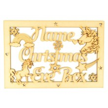 Laser Cut Personalised Unicorn 'Christmas Eve Box' Large Frame Top
