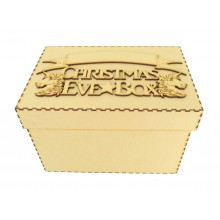 Laser cut 'Christmas Eve Box' Unicorn Design with Blank Banner To Add Vinyl - Box Options