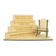 18mm Stacking Blocks Set with 'During this festive season, Think of those in heaven...' Wording Plaques