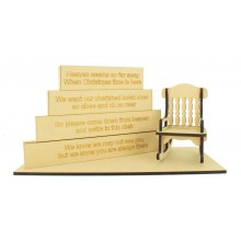 18mm Stacking Blocks Set with 'Heaven seems so far away...' Wording Plaques