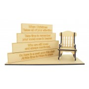 18mm Stacking Blocks Set with 'When Christmas takes all of your attention...' Wording Plaques