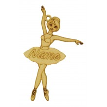 Laser Cut Personalised Ballerina Decoration - 150mm Size
