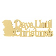 18mm Freestanding 'Days Until Christmas' Large Countdown - Snowman Design