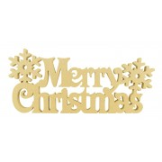 18mm Freestanding 'Merry Christmas' Sign with snowflakes