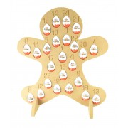 Super sized 18mm Freestanding Christmas Kinder Egg Holder Advent Calendar - GINGERBREAD