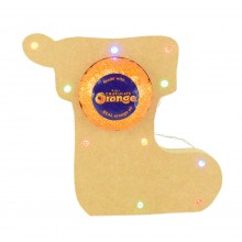 18mm Freestanding Christmas Stocking Terry's Chocolate Orange Holder with LED Lights