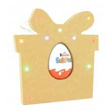 18mm Freestanding Christmas Present Kinder Egg Holder with LED Lights